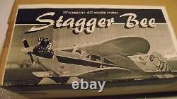 Stagger Bee R/C Airplane Kit, Rare Vintage Model, New In Box, Clancy Aviation