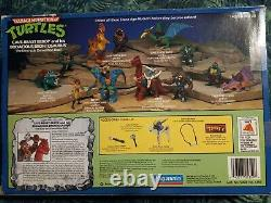 Teenage Mutant Ninja Turtles RARE vintage Cave-beast Bebop with weapons & box