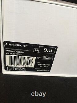 Vans Syndicate Wtaps Yellow Wings Authentic 9.5 Rare Sk8 Vtg Box Logo Vault Hi