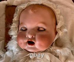 Very rare antique Armand Marseille Baby Gloria Doll. Approx 18 tall. Orig box