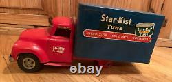 Vintage 1954 Tonka Star Kist Tuna Box Delivery Truck RARE Pressed Steel USA #725