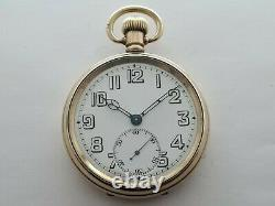 Vintage 1955 Rolex Military Gold Plated 16S Pocket Watch VGC Box Working Rare