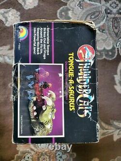 Vintage 1987 LJN Thundercats Tongue-A-Saurus SUPER RARE! With Box! HOLY GRAIL