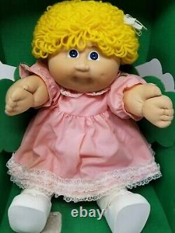 Vintage Cabbage Patch Kid 1985 Triang Girl Gaudy Gold Rare Boxed