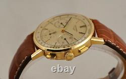 Vintage Chronograph Longines Valjoux 72 Cal Rare Clean Watch Box Papers 1980's