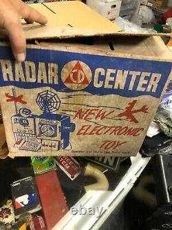 Vintage Civil Defense Radar Center Electronic Cold War Toy #200 w Box RARE 1950s