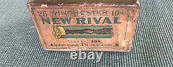 Vintage Empty RARE Winchester New Rival 10 GA Paper Shot Shells 2 pc Box