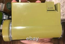Vintage Green Sankyo Digital Alarm model 401 MCM flip RARE With Box Works