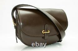 Vintage Hermés Hermes Balle de Golf Box Calf Bag Dark Brown Gold Hardware RARE