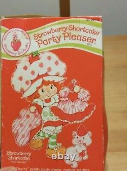 Vintage Kenner Party Pleaser Strawberry Shortcake RARE SEALED BOX Free Ship