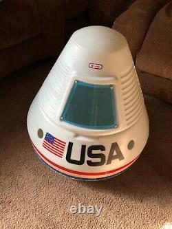Vintage Little Tikes USA Space Capsule Apollo Toy Box Rare