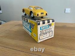 Vintage Scalextric C69 Ferrari 250 GT in yellow, with lights, boxed, very rare