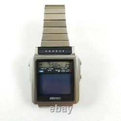Vintage Seiko TV Watch T001-5019 Lcd/Lvd Mens James Bond Watch Rare SEE VIDEOS