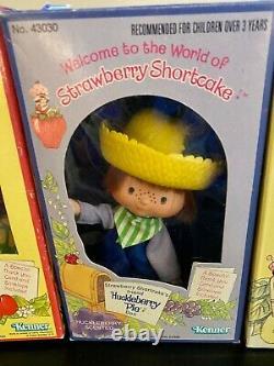Vintage Strawberry Shortcake Dolls Lot of SIX By KENNER in Box RARE Like NIB