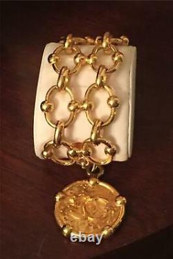 Vtg 1994 Vivienne Westwood Pearl Triple Orb Logo Choker Necklace Gold Box Rare