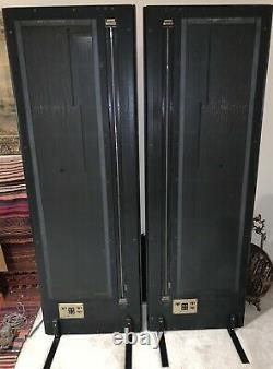 Vtg Magneplanar Magnepan Speaker Model MG 3.5 with Crossovers & Box, Rare Black