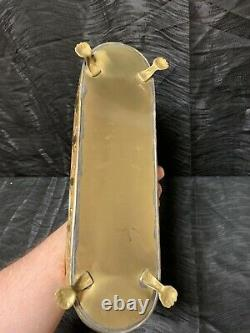 Vtg Rare 14 Brass Planter Pot Window Plant Box Claw Footed Hollywood Regency