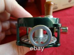 X-rare Old Shop Stock Boxed Hardy Bougle Agate 1 Trout Fly Reel (green Frame)