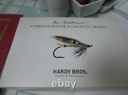 XX rare hardy ken middlemist commerorative dozen salmon fishing flies boxed etc