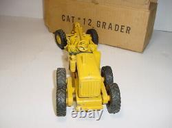 1/24 Vintage Cat #12 Road Grader Par Reuhl (1950) Withbox! Rare