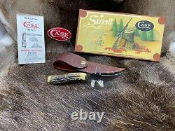 1984 Cas XX Petit Couteau De Jeu Avec Stag Poignée Gaine Menthe Dans Vintage Box Rare