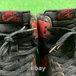 1985 Nike Air Jordan 1 Noir Red Bred Sz 8 No Box Rare Og Vintage Chicago One 85