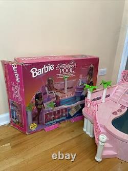 1993 Rare Vintage Barbie Fontaine De Luxe Piscine (lumières Ne Fonctionnent Pas) Avec Boîte 90s