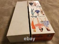 # 3 Vintage Brunette Ponytail Barbie, Rare Eyeliner Bleu, R Box, R Support, Livret
