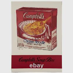 Andy Warhol Rare Vintage Original Campbell's Soup Box 1985 Poster