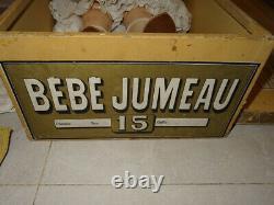 Antiquité Exceptionnelle Grande Rare E. J Taille 15 Dans Sa Boîte Jumeau Avec Trousseau