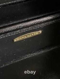 Auth Vintage Mark Cross Grace Box Sac À Bandoulière En Cuir Rares Années 1990