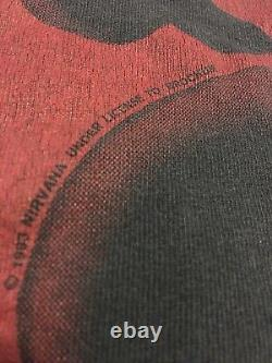 Authentic Vintage 1993 Nirvana Heart Shaped Box T-shirt Taille Grand Ultra Rare