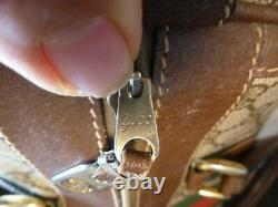 Authentique Vintage Gucci Brown Monogram Gg Sac À Main Rare Box Speedy Doctor Bag