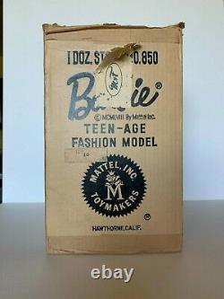 Barbie #1 Boîte À Livraison Mattel 1958 Vintage Rare