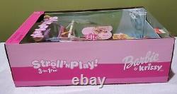 Barbie & Krissy Stroll'n Play + Latino Bébé 3 Poupées Mis Nouveau Dans La Boîte- 2001 Rare