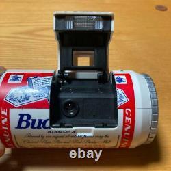 Beer Budweiser Peut Vintage Film Camera Avec Box Rare Flash Ne Fonctionne Pas