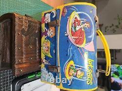Boîte À Lunch En Métal Vintage Avec Thermos. 1963, Jetsons Originaux/vintage. Rare