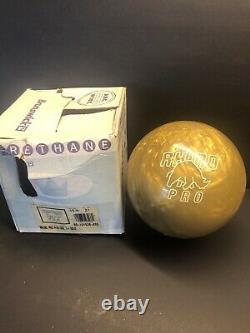 Brunswick Gold Rhino Pro New In Box Bowling Ball 15lbs Vintage (rare) Original