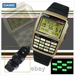 Casio Dbc32c-1b Calculatrice De Banque De Données Montre Nouvelle Rare Vintage Limitée En Or Noir