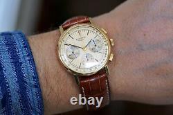 Chronographe Vintage Longines Valjoux 72 Cal Rare Clean Watch Box Papers Des Années 1980