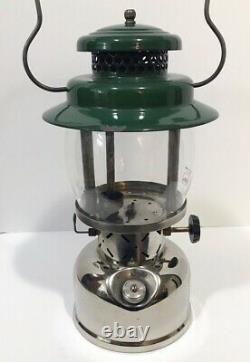 Coleman 237 Empire Lantern 11/67 W Boîte Originale Kerosene Rare Vintage Camping