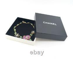 Collier Chanel Camellia Gripoix Pierre Vintage Withbox Très Rare V1324
