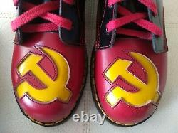 Doc Dr. Martens Faucille & Hammer Boots New Withbox Made In England Rare Vintage 5uk