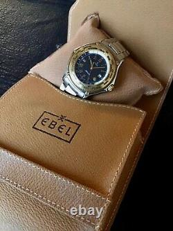 Ebel Voyager Worldtimer Gmt Automatik Stahl 18 Kt Discovery 1911 Wave Top Rare