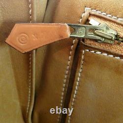 Hermes Vintage Gold Box Calf Cuir Saddle Crossbody Sac Rare