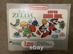 Legend Of Zelda Rare Vintage 3pc Childs Set Plate Cup Bowl Peter Pan Neuf Dans La Boîte
