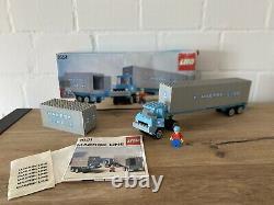 Lego 1651 Mearsk Line Container Truck 80er Box Vintage Rare
