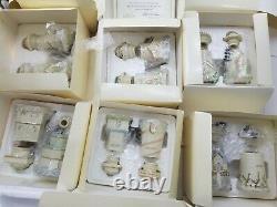 Lenox 1989 Spice Village 24 Vtg Porcelain Jars Orig Box Ensemble Complet Nos Rare