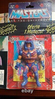 Masters Of The Univers Vintage Moc Man E Faces Top Jouets Bulle Claire Rare Boîte