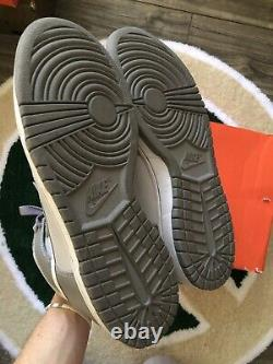 Nike 2008 Dunk Haute Neutre Gris Taille 10,5 Og Box Rare Vintage Great Condition